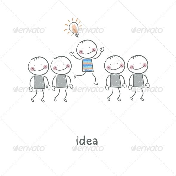 Idea. Illustration. - People Characters