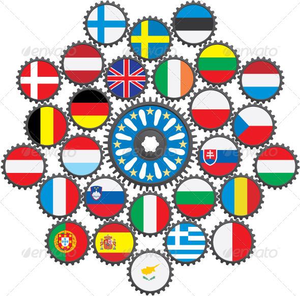 EU in the Form of Gears. - Conceptual Vectors