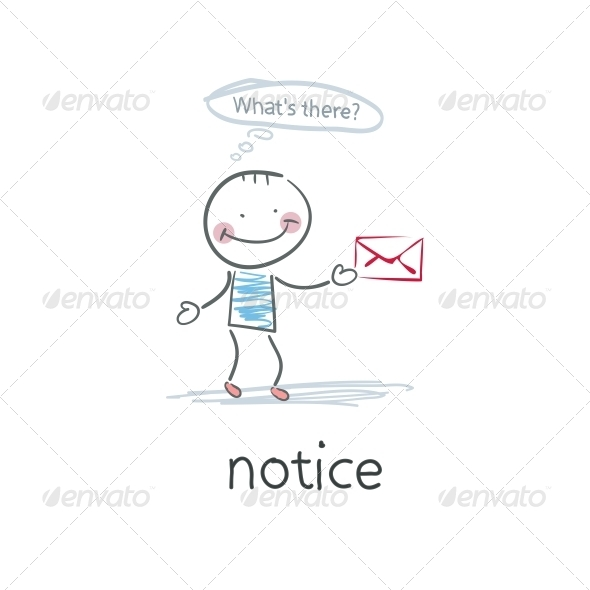 Notice. Illustration - People Characters