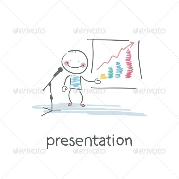 Presentation. Illustration - People Characters
