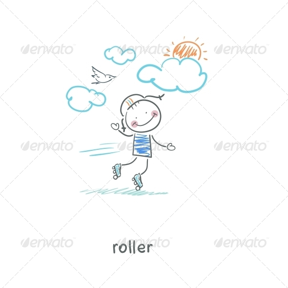 Roller. - People Characters