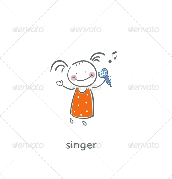 Singer. - People Characters