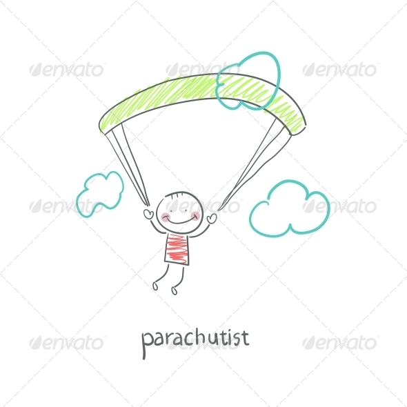 Skydiver. - People Characters