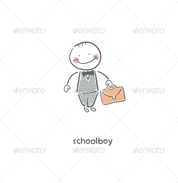 Schoolboy. - People Characters