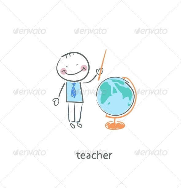 Teacher. - People Characters