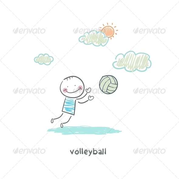 Volleyball Player - People Characters
