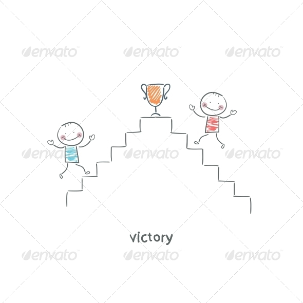 Victory. Illustration. - People Characters