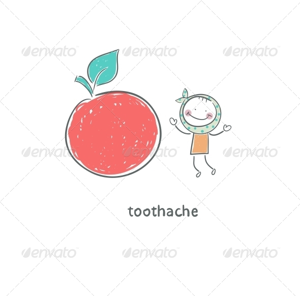 Toothache. Illustration. - People Characters