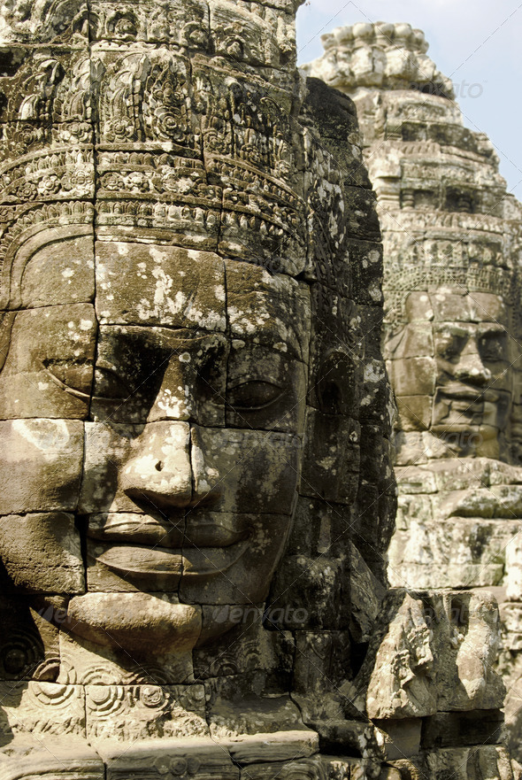 Faces of gods - Stock Photo - Images
