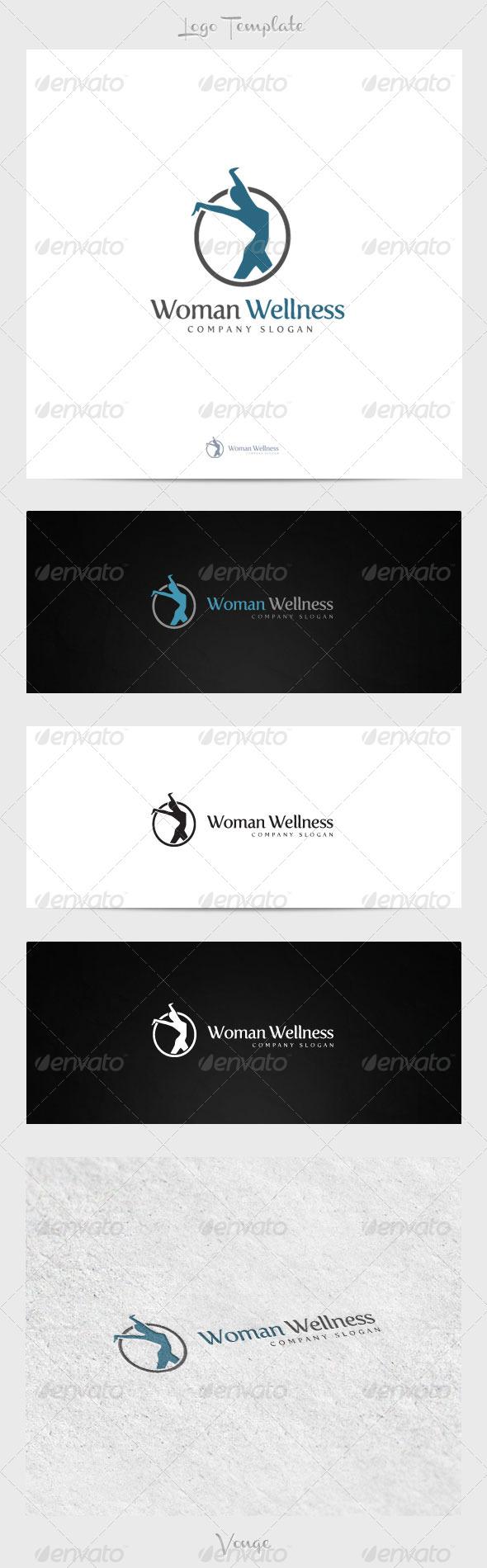 Woman Wellness - Humans Logo Templates