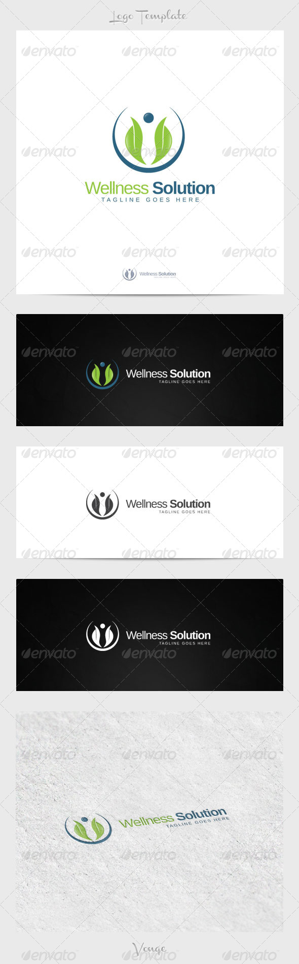 Wellness Solutions - Nature Logo Templates
