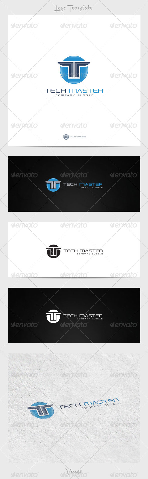 Tech Master - Letters Logo Templates