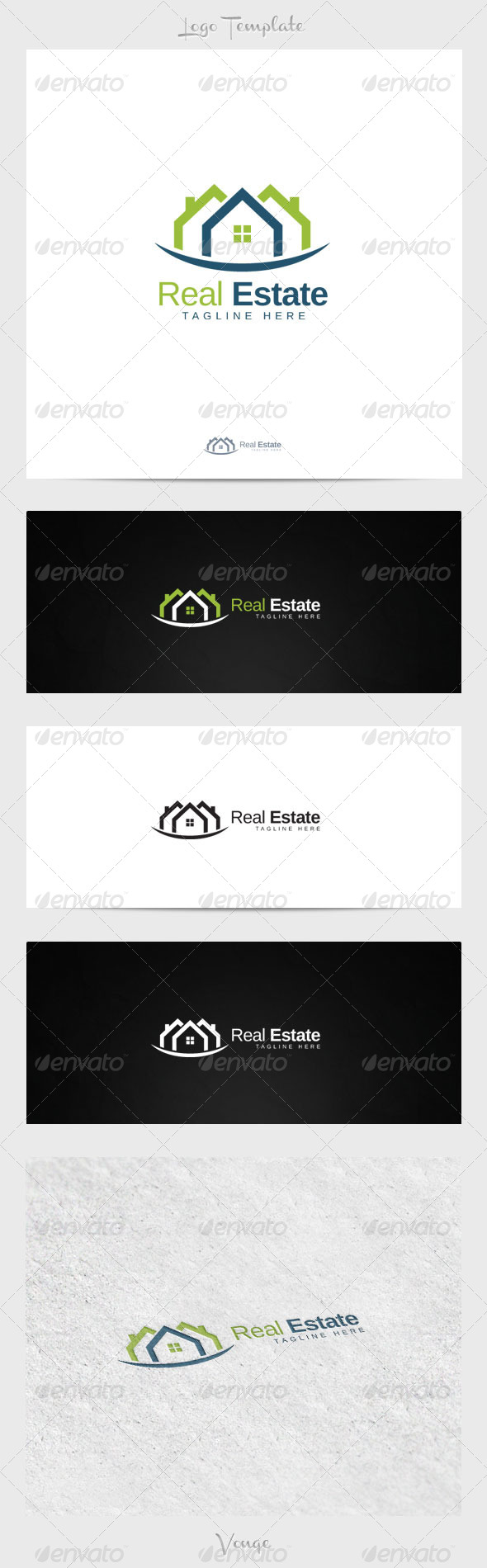Real Estate Brand - Buildings Logo Templates