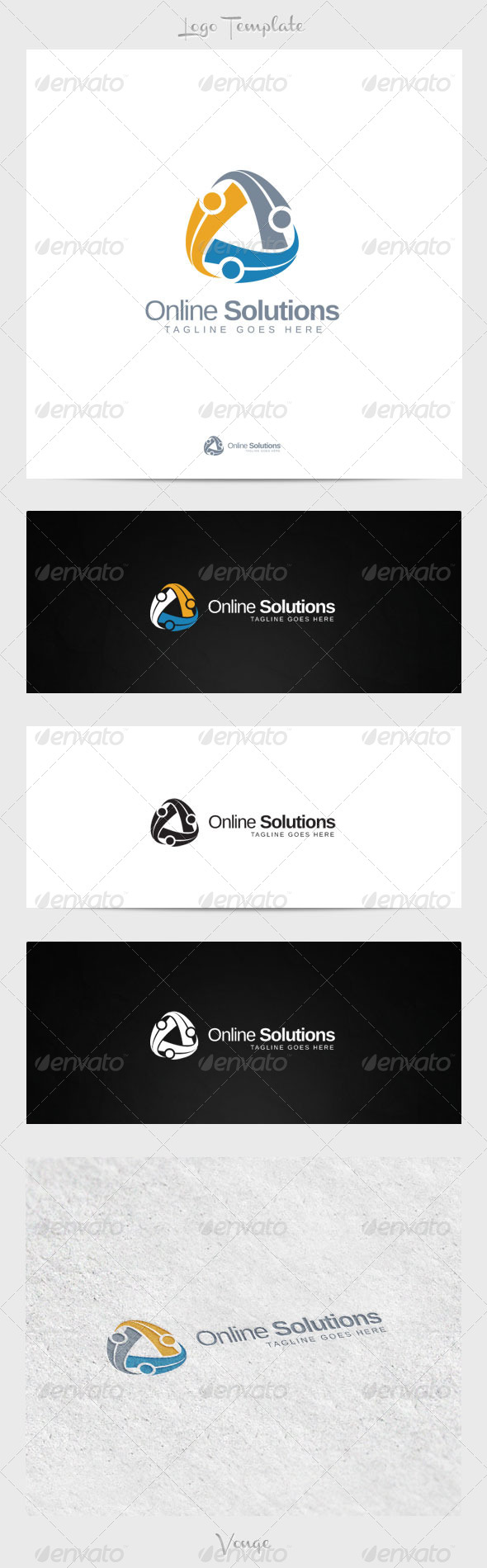 Online Solutions - Symbols Logo Templates