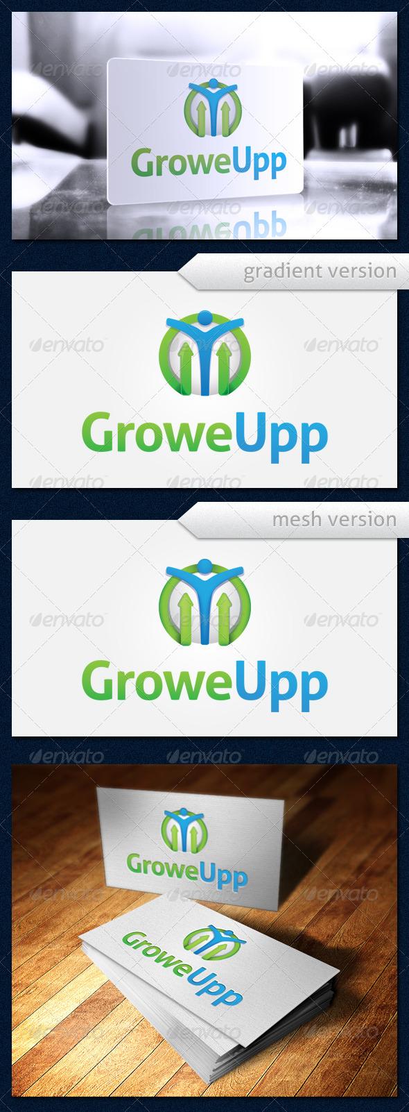 GroweUpp Logo - Humans Logo Templates