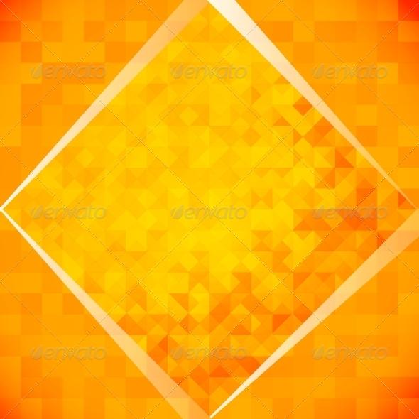 Orange Mosaic Tiles - Abstract Conceptual