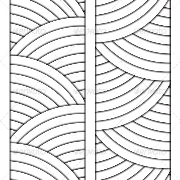 White Circle Ornament - Abstract Conceptual