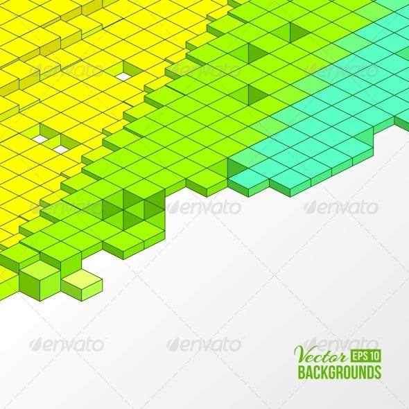 Background of Cubes - Abstract Conceptual