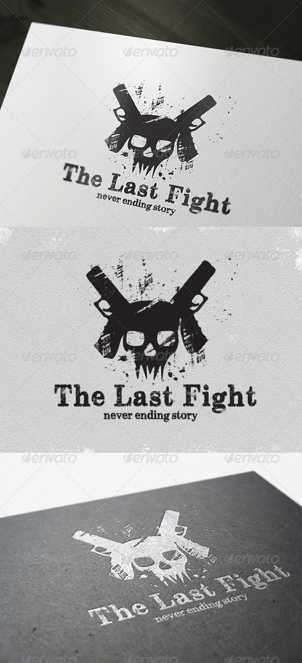 Game The Last Fight Logo - Vector Abstract