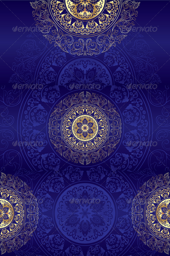 Set of Violet Vintage Floral Backgrounds - Backgrounds Decorative