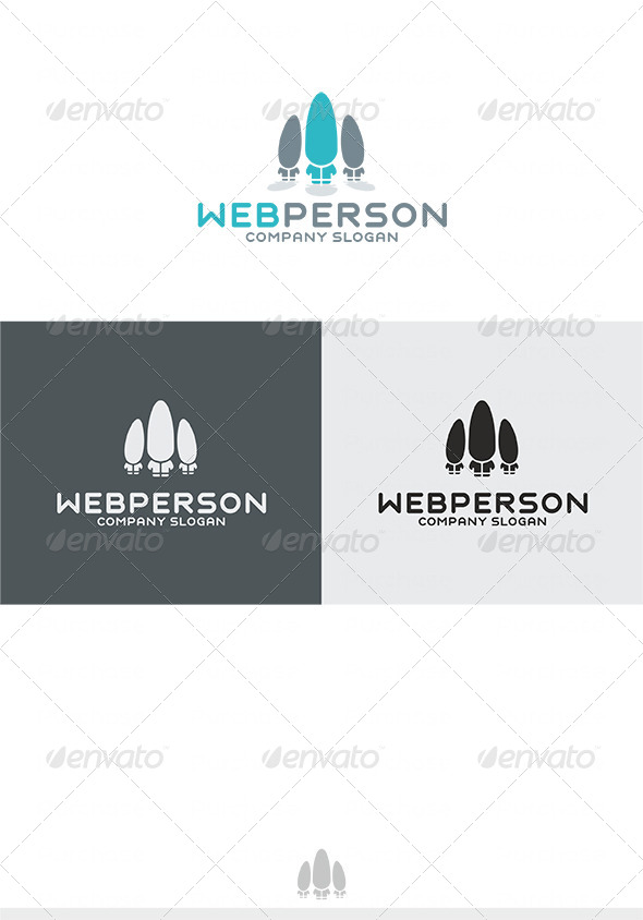 Web Person Logo - Humans Logo Templates