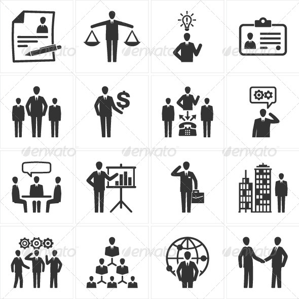 Management and Human Resource Icons - Business Icons