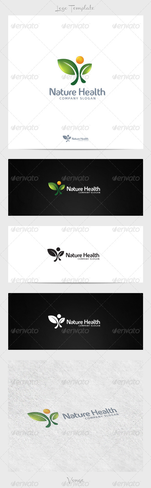 Nature Health - Nature Logo Templates