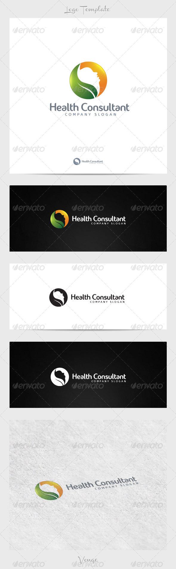 Health Consultant - Nature Logo Templates