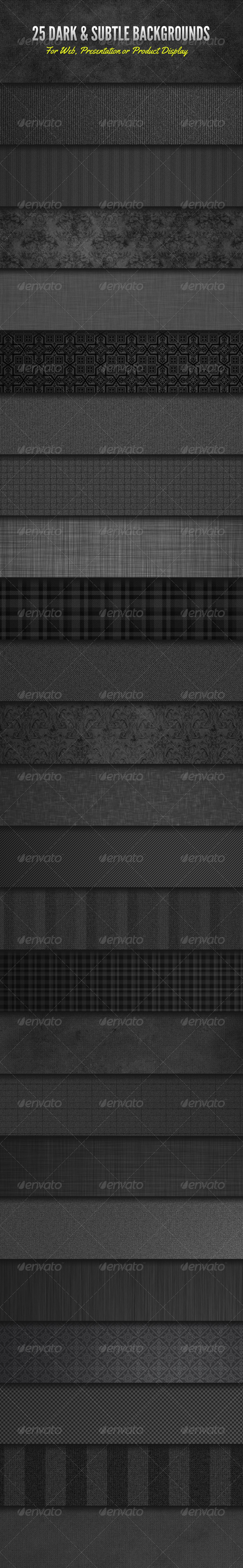 Dark and Subtle Background Textures - Miscellaneous Backgrounds