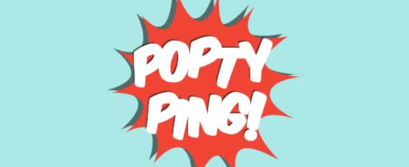 Poptyping banner