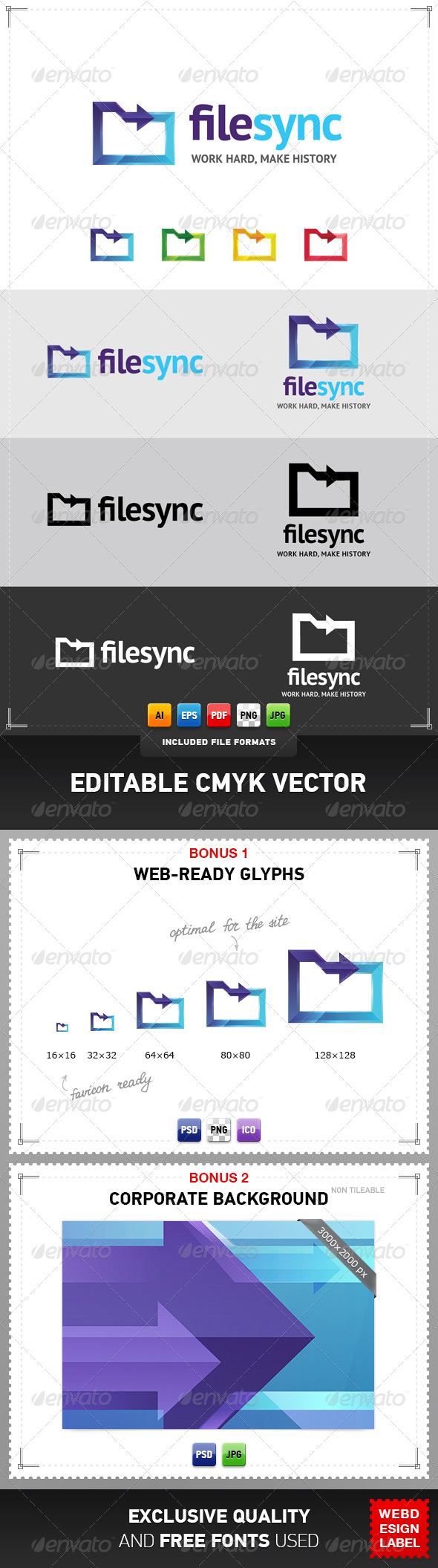 File Sync Logo - Objects Logo Templates