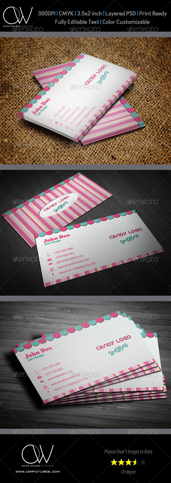 Candy Business Card - Creative Business Cards