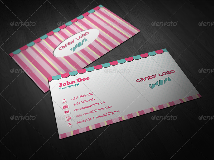Candy Business Card by OWPictures | GraphicRiver