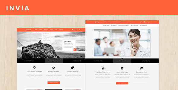 INVIA Corporate Site Template