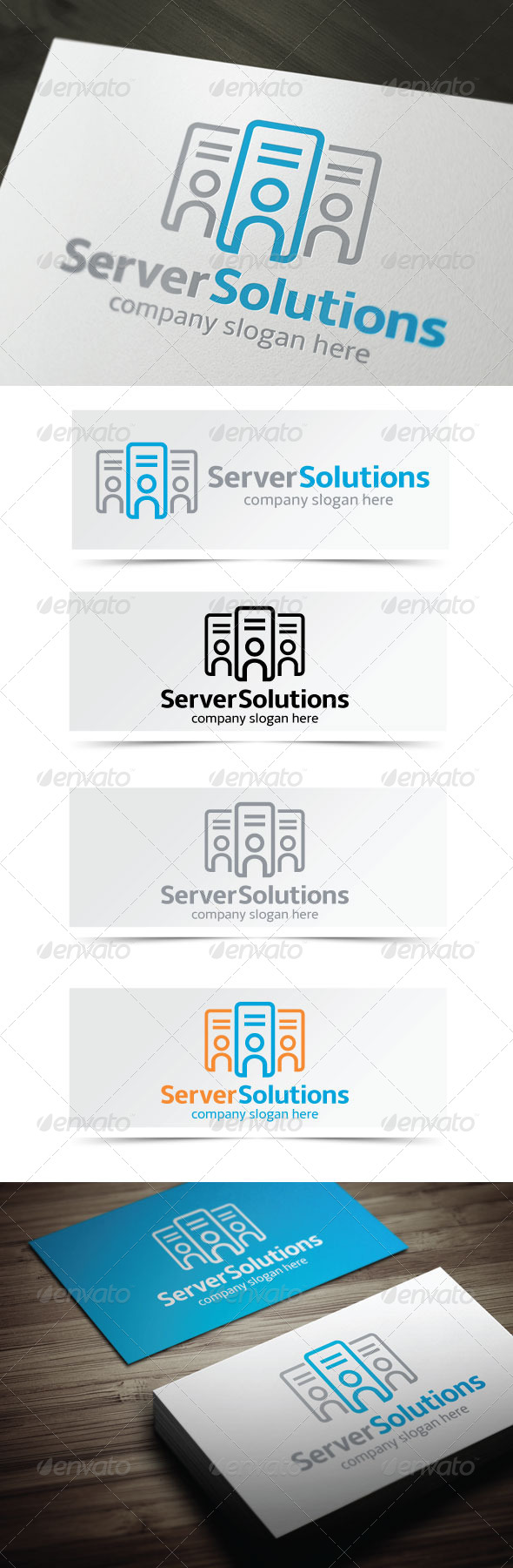 Server Solutions - Objects Logo Templates