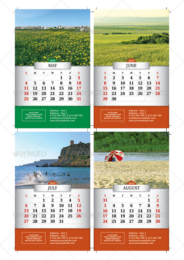 2014 Vertical Desktop Calendar By Lumberjackbg Graphicriver