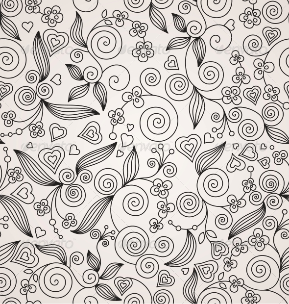 Decorative Flower Seamless Background - Patterns Decorative