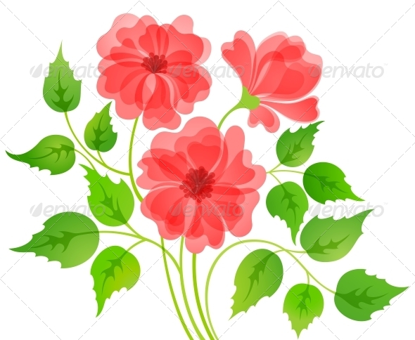 Colorful Flower Card - Flowers & Plants Nature