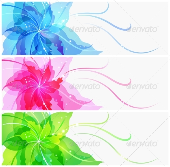 Triple EPS10 Colorful Flower Background - Weddings Seasons/Holidays
