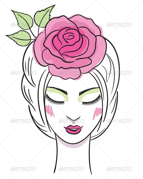 Fashion Illustration of a Woman - People Characters