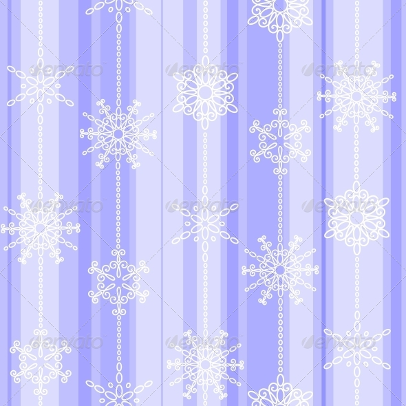 Flake Winter Seamless Pattern - Christmas Seasons/Holidays