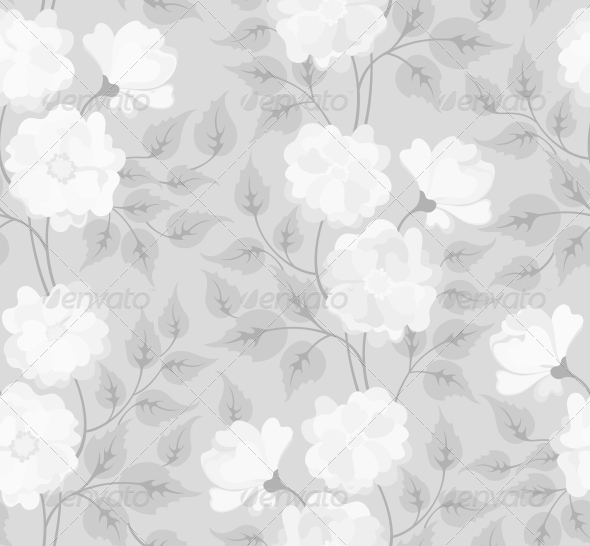 Light Abstract Seamless Flower Background - Flowers & Plants Nature