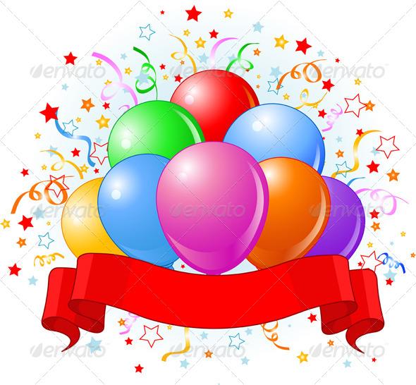 Birthday Balloons Design - Birthdays Seasons/Holidays