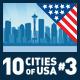 Vector City Skyline Set. USA #3 - GraphicRiver Item for Sale
