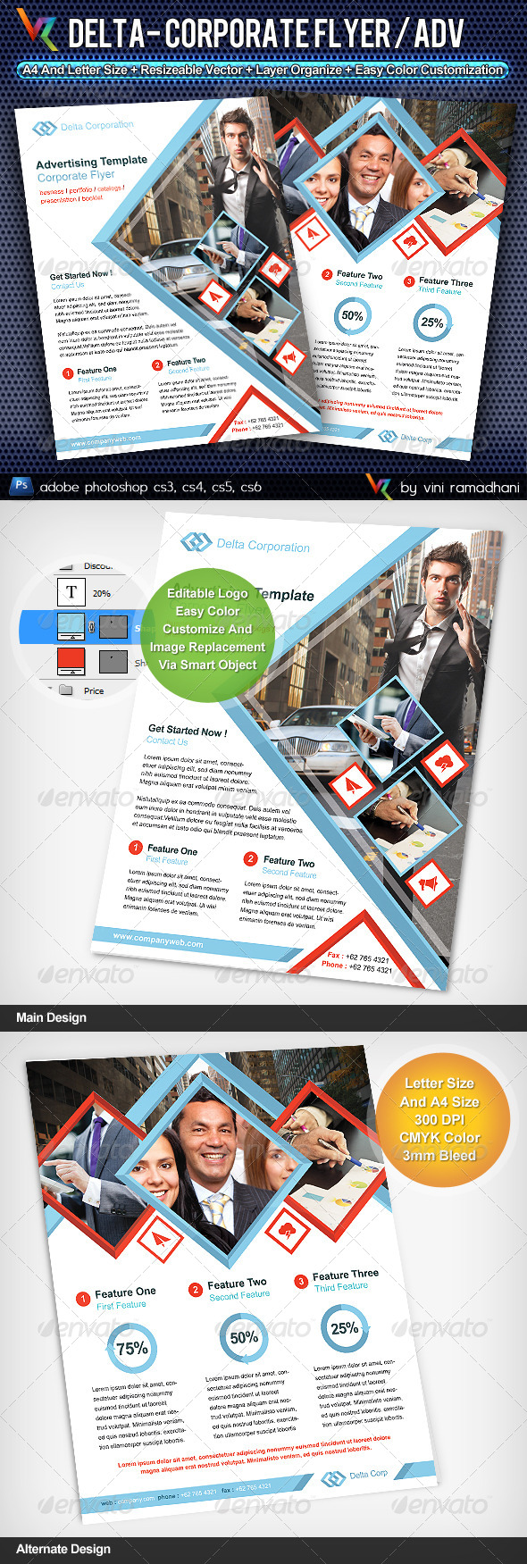Delta Corporate Flyer Or Advertising - Corporate Flyers