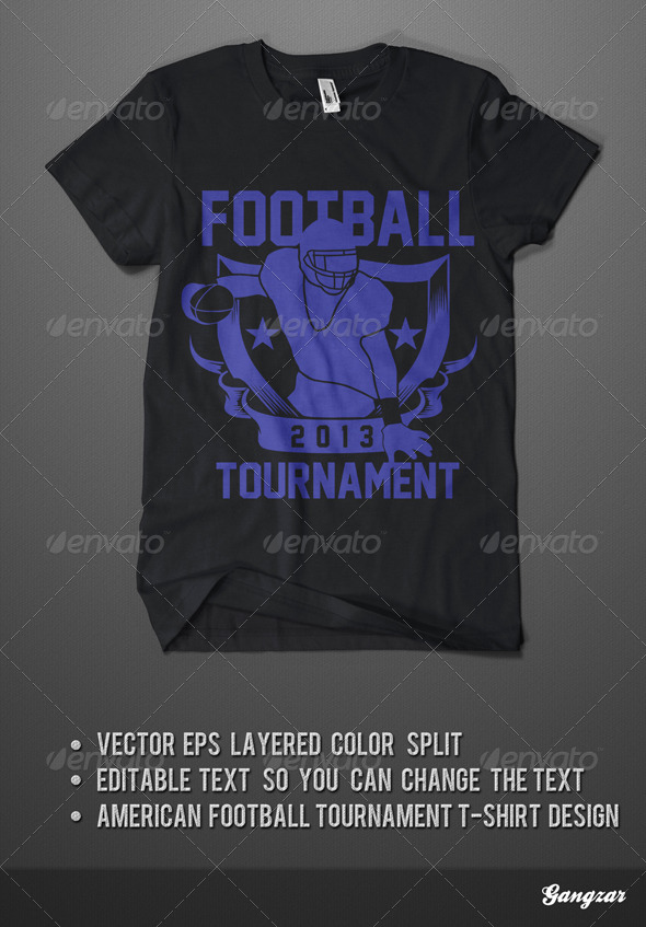 American Footbal Tournament T-Shirt - T-Shirts