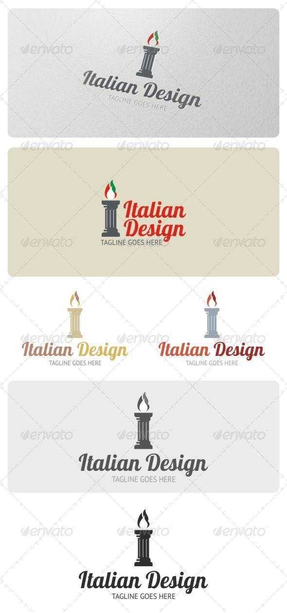 Italian Design Logo Template - Letters Logo Templates