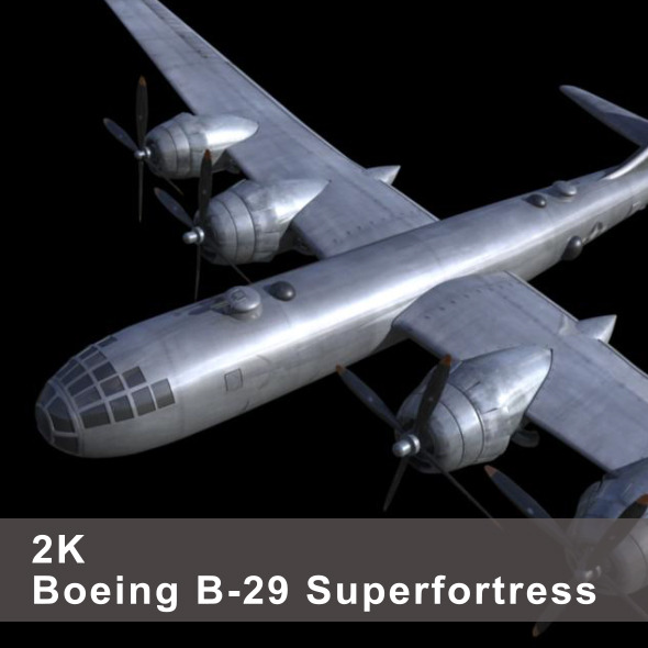 B-29 Superfortress - 3DOcean Item for Sale