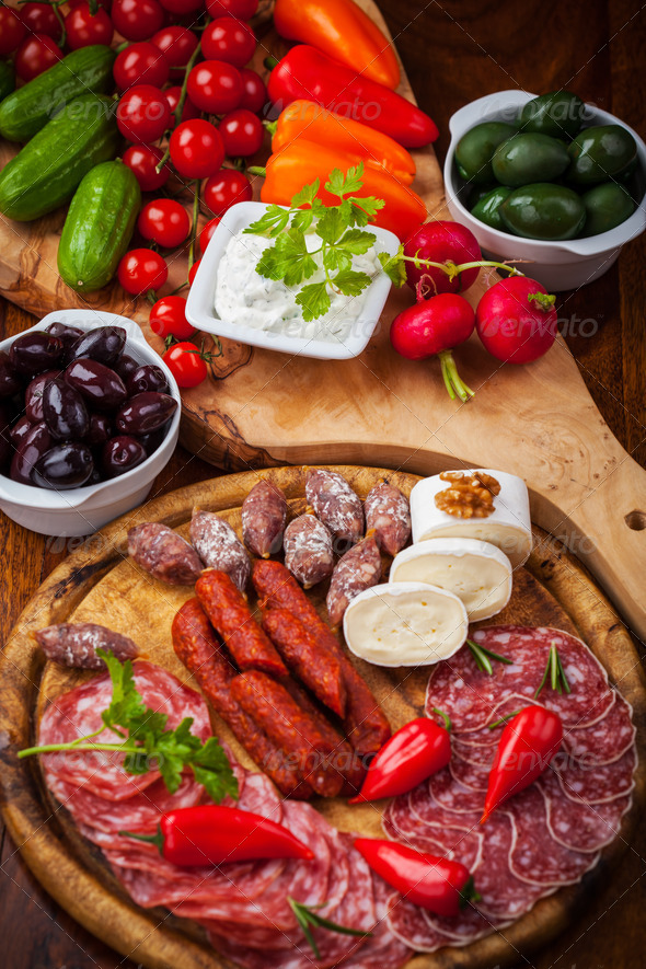 Antipasti and Fingerfood - Stock Photo - Images