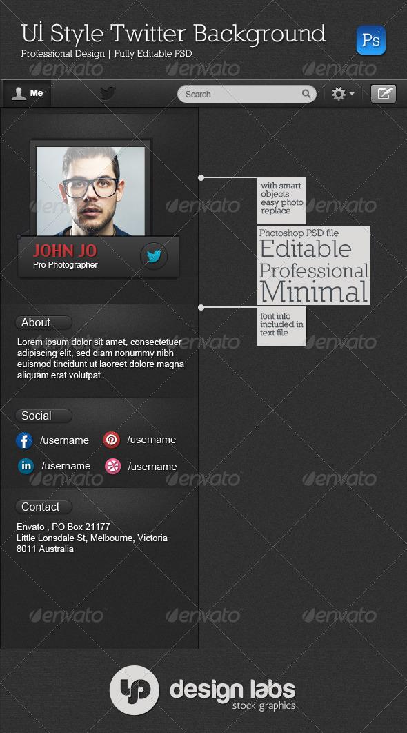 UI Style Twitter Background - Twitter Social Media